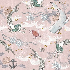 Mermaids (SMALL) pink