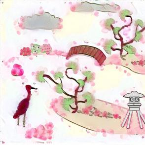 Cherry Blossom Garden