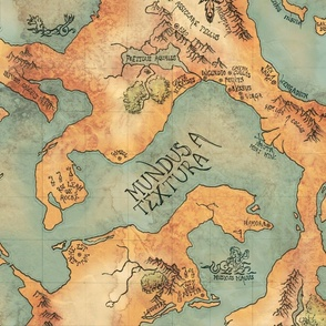 Pirate map in colour