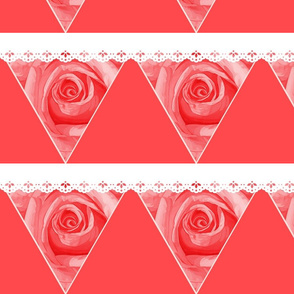 Rose Bunting Passion Love