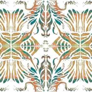 Hummingbird Block Print