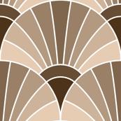 art deco fan scale : beige fawn brown