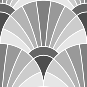 art deco fan scale : grey