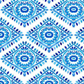 Watercolor Blue Ornament