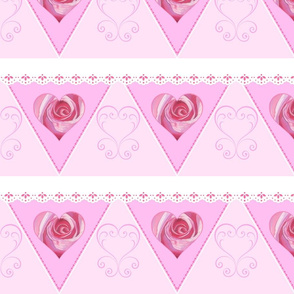 Pink Romance Hearts Bunting