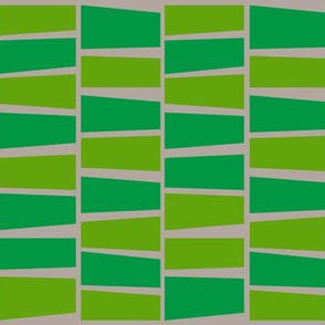 green scene midcentury block print