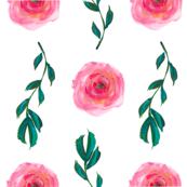 Falling Leaves and Peonies