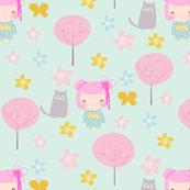 Maiko and Cat (Aqua)
