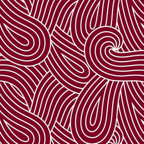 Garnet Loop Swirl Waves