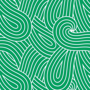 Green Swirl Loop Waves