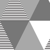 Geometric Triangle Whole Cloth