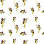 Newborn floral dots bouquet