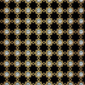 Luxury diamond golden pattern