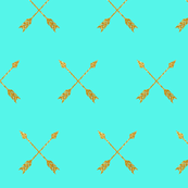 Gold Arrows on Teal