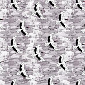 Stone Waterfall Cranes