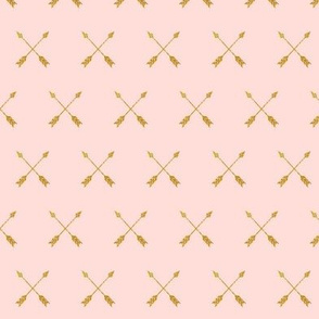 Gold Arrows on Pale Pink