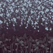 Moonlight cherry blossums