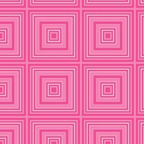 Deep Pink Squares Geometric