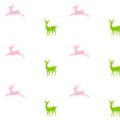 Deer - pink lime