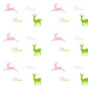Deer - pink lime personalized