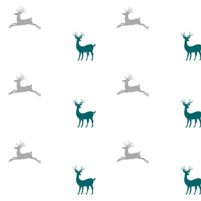 Deer - gray teal