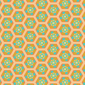 Japanese Pattern (Orange Hexagons)