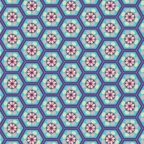 Japanese Pattern (Blue Hexagons)