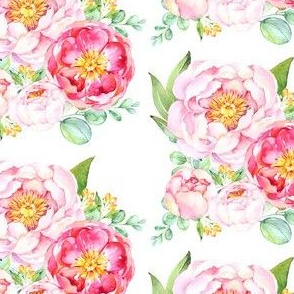 Peonies Love in White