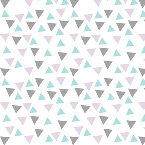 Scattered Triangles - Mint, Grey, and Lilac