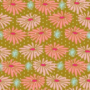 garden // flowers Japanese blockprint woodcut inspired flowers florals