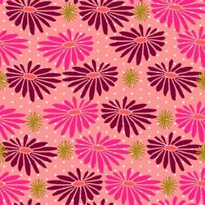 floral // japanese woodcut flowers garden pink