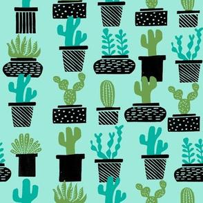 cactus // potted plants houseplants plants block print stamps kids