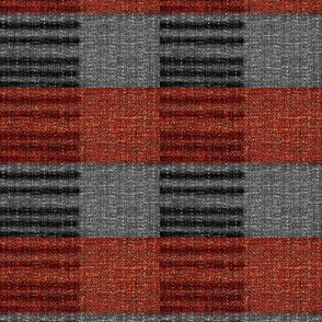 Horizon Check - red, grey, black