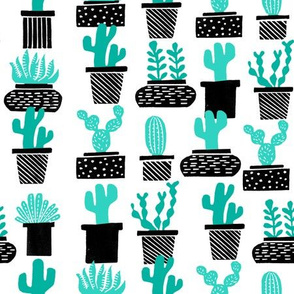 cactus // plant pots potted plants houseplants plants black and white cactus summer tropical
