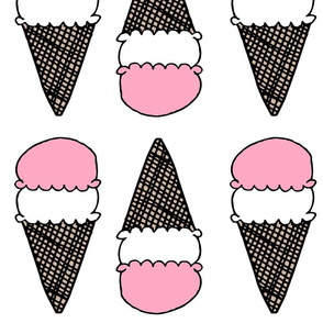 ice creams // ice cream cones summer