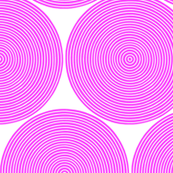 concentric circles - hot pink