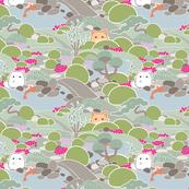 Japanese Garden Cats