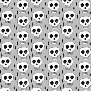 skulls // halloween skulls spooky scary kids baby grey