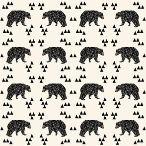 "geo bear // squares 4.5"" square designs"