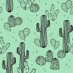 cactus // mint cactus cacti kids baby simple sweet trendy plants tropical summer