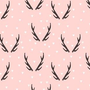 antlers // baby pink girls sweet triangles kids geo geometric antlers