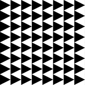 triangles // railroad kids baby black and white simple basic triangle