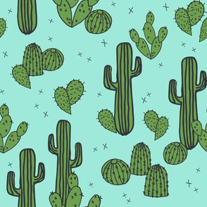 cactus // mint cactus plants cacti southwest desert mint green kids plants trend