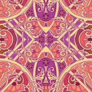 Art Nouveau Swallows A Hippie