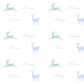 Deer - blue mist-personalized