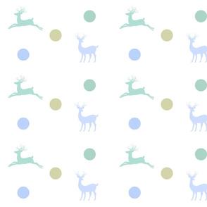 Deer - dotty blue mist
