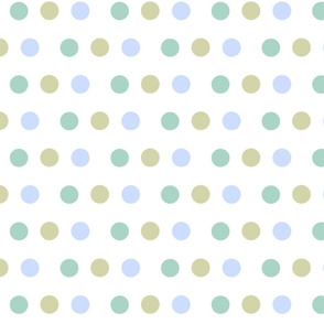 Deer - dotty dots  blue mist
