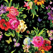 Floral Pop Mini - Black