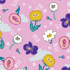 KAWAII flowers pink