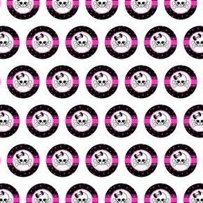 Circles Girly Skulls pink 3